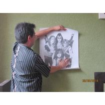 Poster Kiss Replica Dibujo A Lapiz