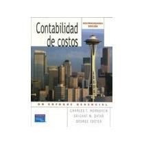Libro Contabilidad De Costos Un Enfoque Gerencial 12e *cj