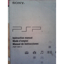 Psp Manual De Instrucciones, Sony