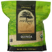 Truroots Organic Quinoa 100% Whole Grain Calidad Premium 4 L