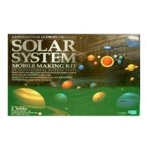 3-d Que Brillan En La Oscuridad-solar System Mobile Kit Hace