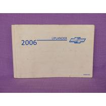Manual. Uplander, General Motors, 2006. Precio: $399.00