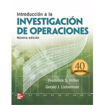 Introducción A La Investigación De Operaciones Pdf