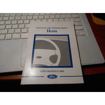 Manual De Propietario De Ford Ikon 2001