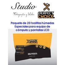 Paquete De 20 Toallas Limpiadoras Perfect Choice Para Lcd