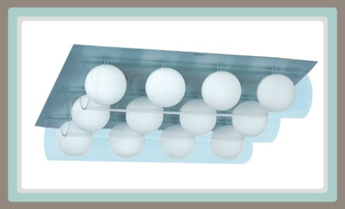 Lamparas Para Baño Pared:Línea Para Baño – Lámpara Moderna, 12 Esferas – $ 3,96000 en