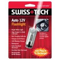 Swt50070 Swiss Tech Auto 12v Flashlight Linterna