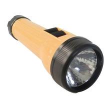 Linterna Plastico Con Led Usa 2 Pilas C Luz Amarilla Obi