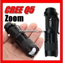 Lámpara Táctica De 2000 Lumens Cree Led Recargable Zoom Rm4