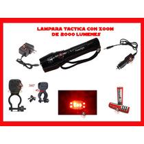 Lampara Táctica Cree 2000 Lumenes Vv4