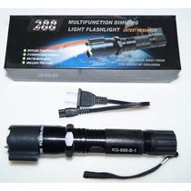 Lampara Tactica Police Con Electroshock Y Laser Recargable