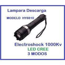Lampara Tactica 3 Mods Electroshock(descarga) 1000kv Led Cre