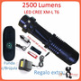 Mini Lampara Tactica 2500 Lumens Cree Led Xm-l T6 Recargable