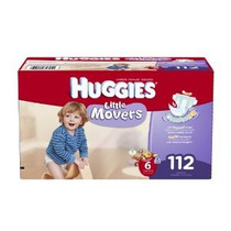 Huggies Little Movers Pañales Economy Plus Size 6 112 Count
