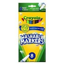 Crayola De 8 Marcadores Lavables Negrita Colores Fine Tip