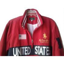 Chamarra Roja Terciopelo. U S A. Royal Polo Club