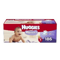 Huggies Little Movers Pañales Economy Plus Tamaño 3 186 Coun