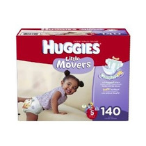 Huggies Little Movers Pañales Economy Plus Size 5 140 Count