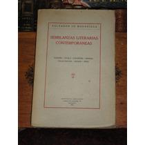 Salvador De Madariaga Semblanzas Literarias Contemporáneas