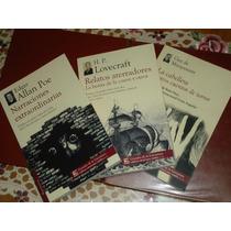 Edgar Allan Poe Lovecraft Maupassant Paquete Terror 3 Libros