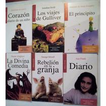 Paquete 6 Ana Frank Principito Gulliver Corazon Diario Niño