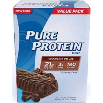 Pure Protein Deluxe Chocolate Valor Pack6 Count 50 Bares Gra