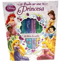 12 Libros De Carton Puedo Ser Una Princesa, De Disney- New