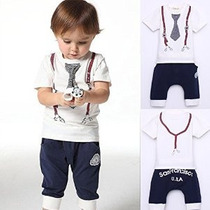 Lindo Kids Boy Algodón Lazo Cinturón Imprimir Top Camiseta +