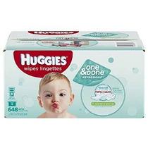 Huggies One & Done Refrescante Bebé Wipes Refill, Pepino Y T