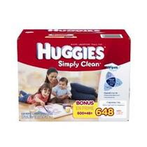 Huggies Simplemente Bebé Clean Wipes Refill 648 Conde