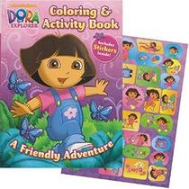 Dora La Coloring Book Explorador Gigante Con Pegatinas (144