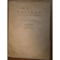 Walt Whitman Constructor Para America Deutsch Ed Seneca 1942