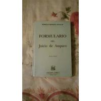 Libro Formulario Del Juicio De Amparo, Rómulo Rosales A.