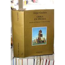 Obra En Prosa , Jorge Guillen, Tusquets