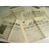 Antiguo Periódico Facsimil Cuatro Primeras Planas