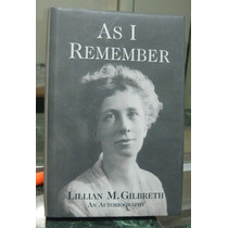 Libro As I Remember Autor Lillian Moller Gilbreth Vv4