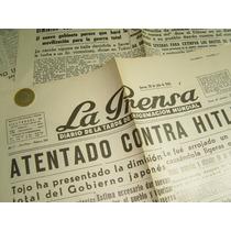 Antiguo Periodico Facsimil Primeras Planas Julio 1944 Hitler