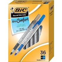 Bic Round Stic Grip Xtra Comfort Bolígrafo Medio Punto (1,2