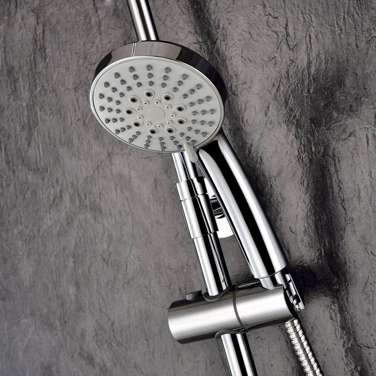 Llave mezclador ouku ba o ducha regadera fija y telefono for Juego de regadera y llaves