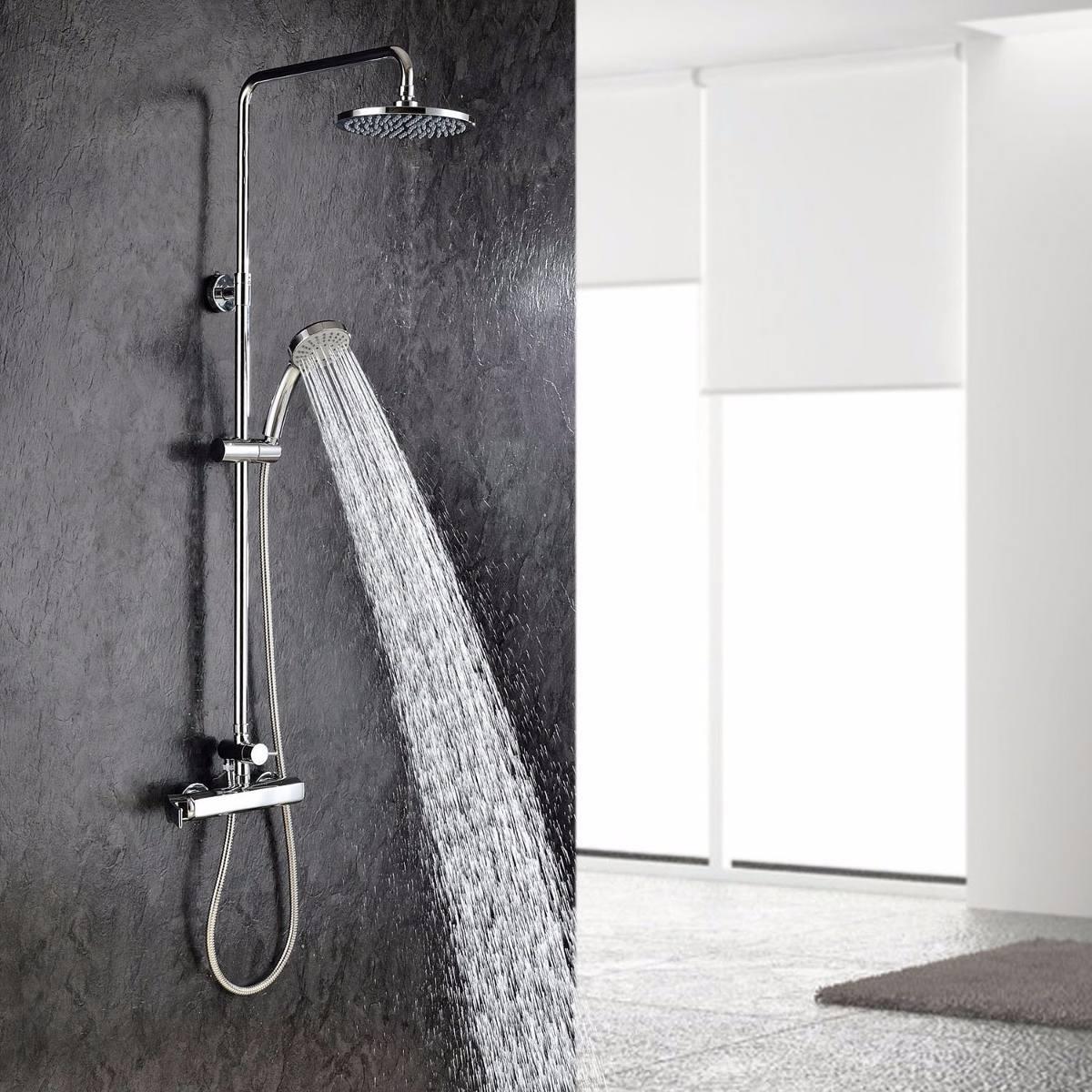 llave mezclador ouku ba o ducha regadera fija y telefono