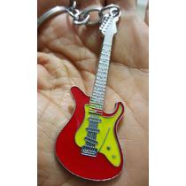Guitarra Electrica Fino Y Elegante Llavero Metálico 1192