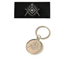 Llavero Masonico Simbologia En Relieve Escuadra Compas Mason