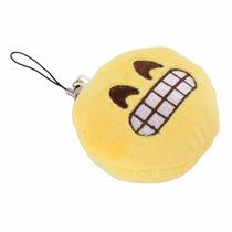 Llavero Emoji Sonriente Whatsapp Peluche Suave Tejido Messen