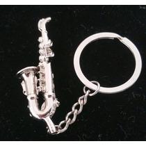 Saxofon Precioso Llavero Metalico Trompeta 1120