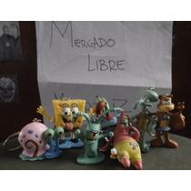 Pack Llaveros Bob Esponja (7), Patricio, Calamardo, Arenita