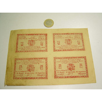 4 Billetes Antiguos 1937 Murcia Totana Guerra Civil 25 Ctmo