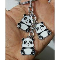 Osos Panda Precioso Llavero De Dijes Acero Inoxidable 1226