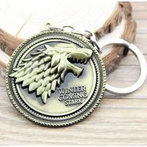 Llavero Dije Logo Lobo Stark Juego De Tronos Game Of Thrones