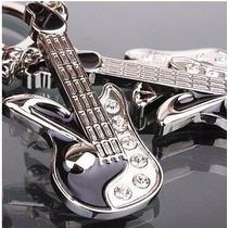 Guitarra Electrica Fino Y Elegante Llavero Metálico 0132