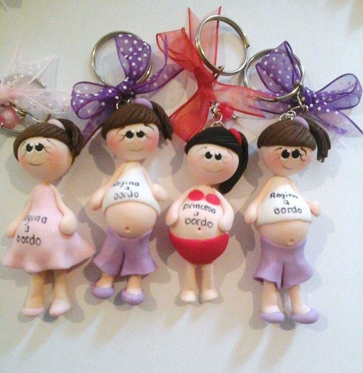 Recuerdos para baby shower en masa flexible recuerdos - Manualidades de llaveros ...